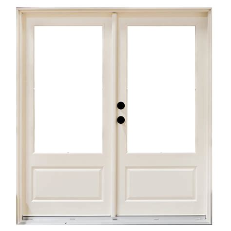 Masterpiece 71 25 In X 79 5 In Fiberglass White Right Masterpiece Patio Doors
