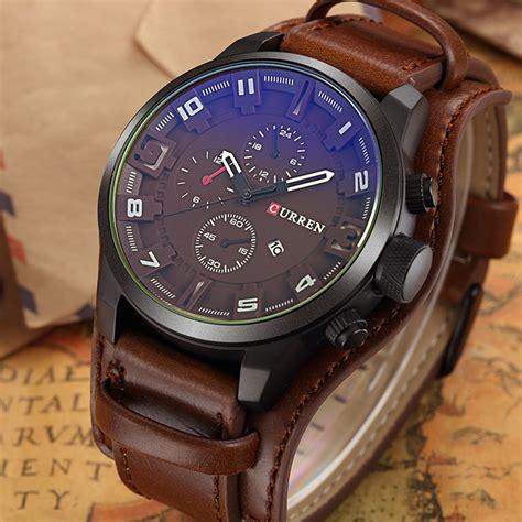curren luxury brand quartz s watches leather
