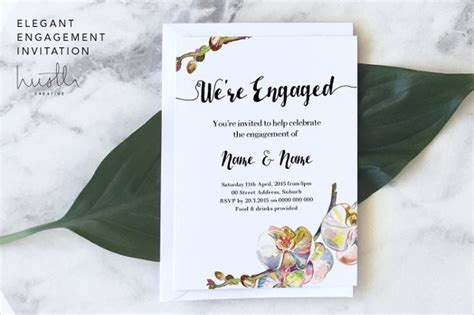 Editable Engagement Invitation Card Template by 13 Engagement Invitation Templates Psd Ai Eps Format