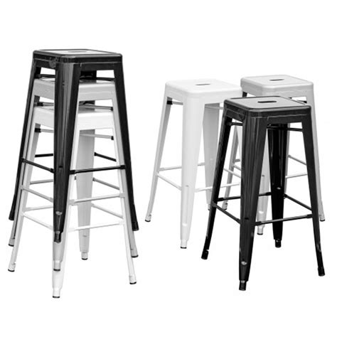 metal stacking counter stools tolix metal stacking bar stool modern and contemporary
