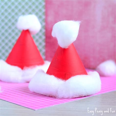 Sting Paper Crafts - paper plate santa hats craft crafts for