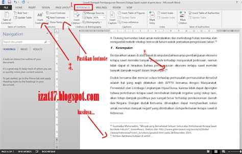 membuat footnote di wordpress pengertian dan cara membuat footnote di ms word izat17
