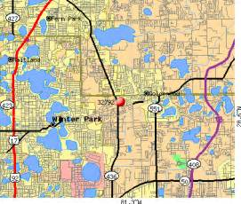 winter park fl zip code map
