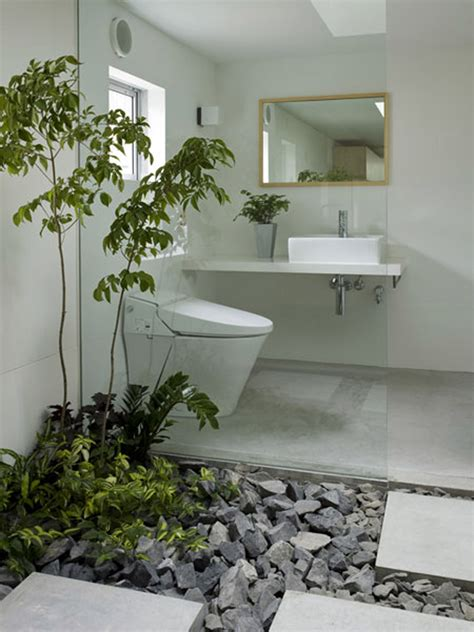 Garden Bathroom Ideas Alluring Desaign Picture Ideas Inspiration With Fresh Bathroom Plant On Chic Gravel And Floating