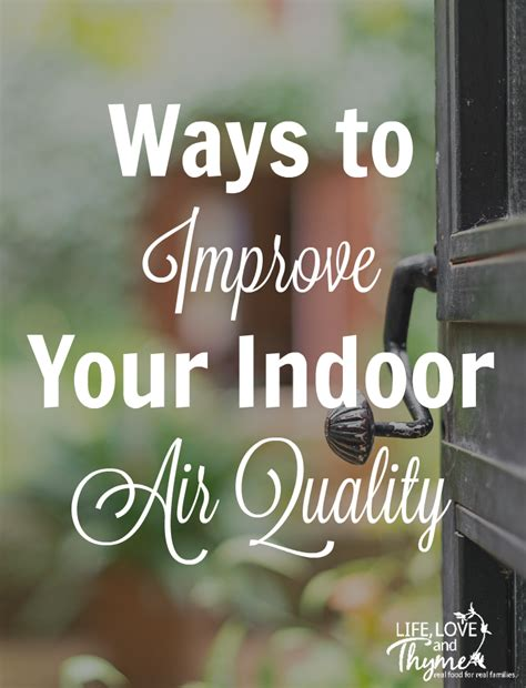 ways to improve your indoor air quality and thyme