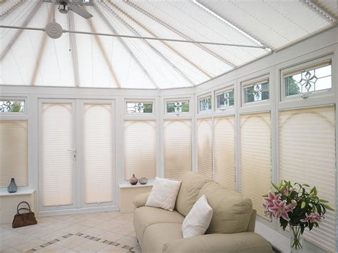 Conservatory Blinds Pleated Conservatory Blinds Appeal Home Shading