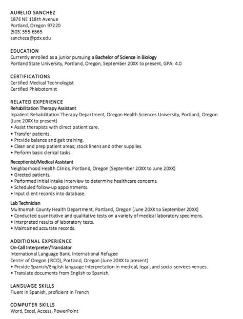 Undergraduate Cv Exle by 14 Best Resume Sles Images By Mohamed Osman On