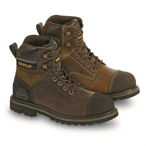 cat boots for cat footwear s traction 6 quot steel toe work boots