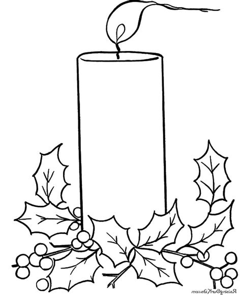 christmas candle free coloring pages