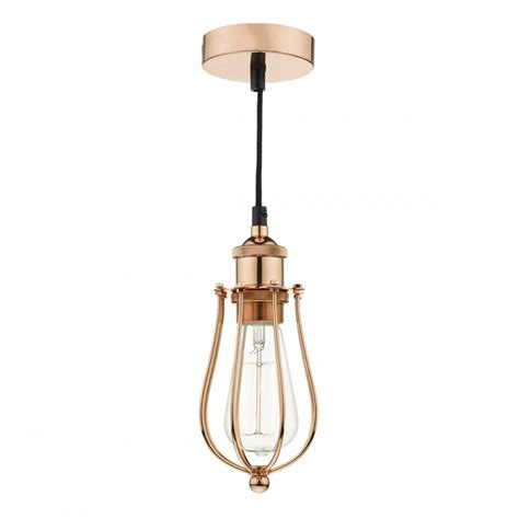 Warehouse Pendant Light Fixtures Copper Industrial Style Ceiling Pendant Light On Black