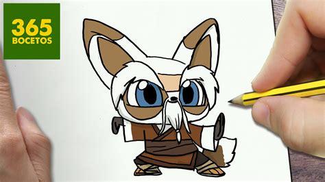 imagenes de kung fu panda en 3d como dibujar shifu kung fu panda 3 kawaii paso a paso