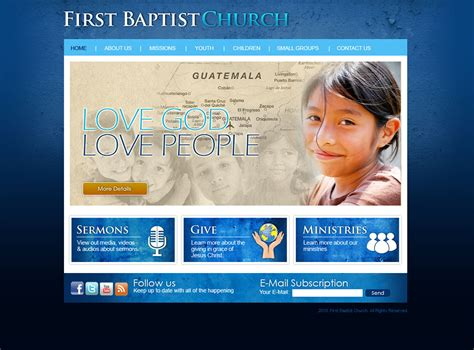 Church Website Design And Church Logo Design Ministry Website Templates