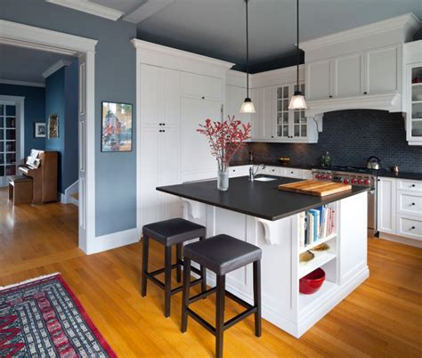 dark blue kitchen walls inspiring country kitchen paint colors to get inspirations