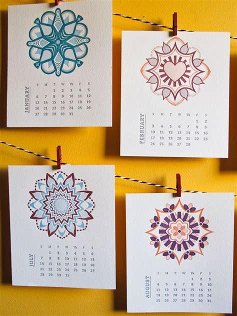 Letterpress Desk Calendar 20 beautiful letterpress calendar designs web graphic