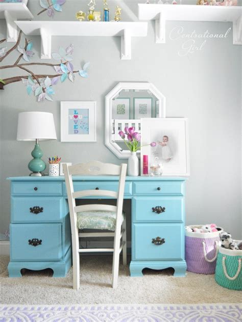 girls bedroom desk lavender blue girl s room centsational girl