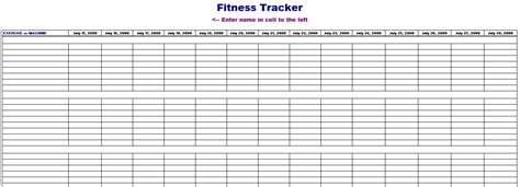 Fitness Tracking Spreadsheet by Fitness Tracking Template Blue Layouts