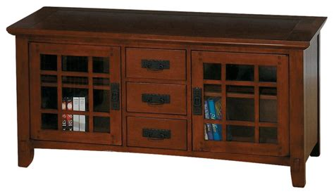 Mission Style Tv Cabinet by Viejo Mission Style Lcd Tv Stand In Brown Oak Finishes W