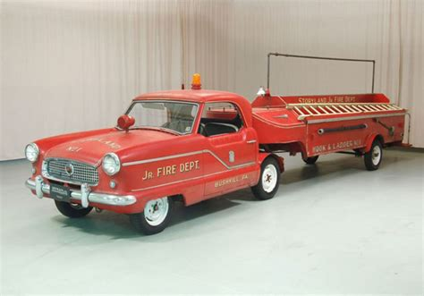 how hot does a house fire get is this tiny nash metropolitan the smallest fire truck ever