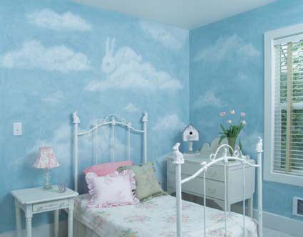 paint clouds  shapes  walls kids rooms