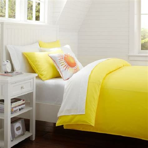 nice yellow duvet cover  cool design housebeauty
