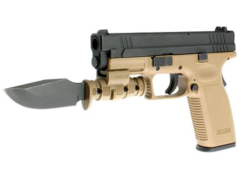 laserlyte pistol bayonet ka bar black steel blade