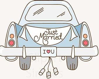 Just Married Auto Clipart Kostenlos by Just Married Car Clipart