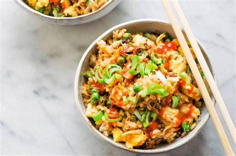 kewpie fried rice leek pea fried rice this healthy table