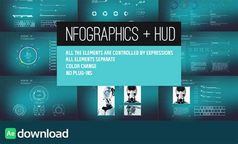 templates after effects gratis cs5 videohive infographics hud ae project free after