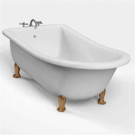 model in bathtub 3d classic bathtub