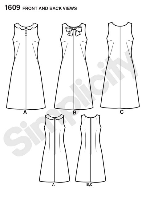 Flat Fashion H5 1609 simplicity pattern misses jiffy 1960 s vintage dress