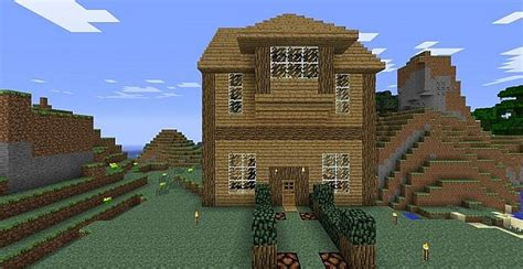 wooden house in minecraft wood house minecraft project