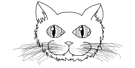 coloring page of a cat face cat face pics coloring home