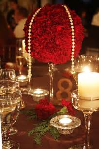 Candles red theme valentines wedding red wedding centerpieces
