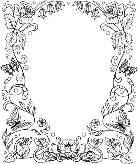 border designs coloring pages image detail for flower border large k5362 from 3 45