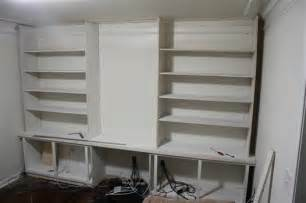 Cost To Install Built In Bookshelves Building A Built In Bookshelf Wall