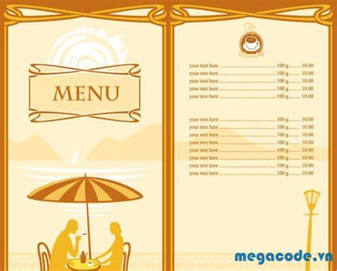 mẫu menu miễn ph 237 d 224 nh cho c 225 c nh 224 h 224 ng megacode