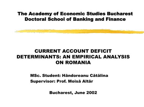 College Of Banking And Financial Studies Mba by Ppt The Academy Of Economic Studies Bucharest Doctoral
