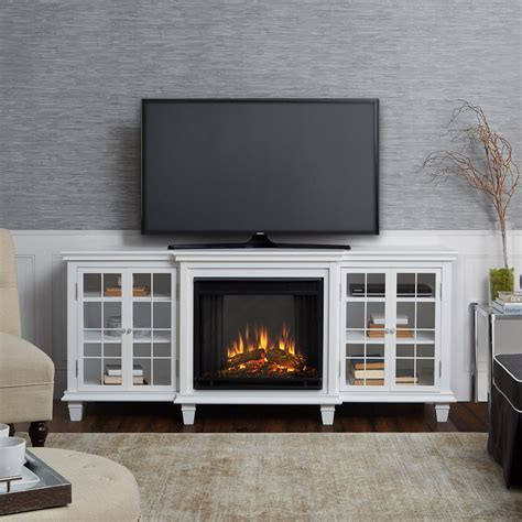 white fireplace tv stand real marlowe 70 in freestanding electric fireplace