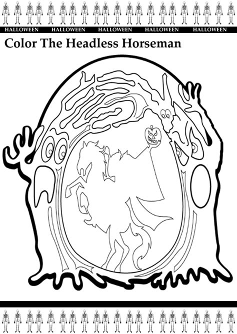 halloween coloring pages headless horseman unit 4 vocabulary answersnit 4 vo