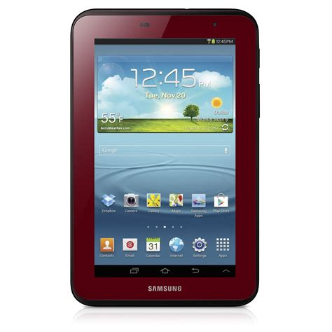 Tablet Samsung Galaxy Tab 7 samsung galaxy tab 7 0 in garnet for s day