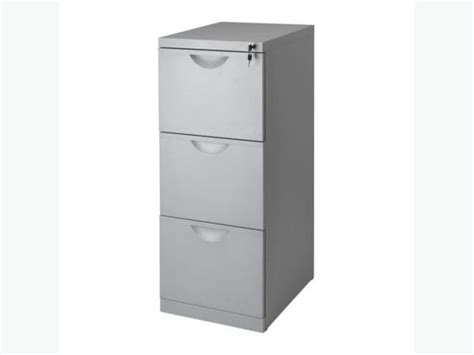 Metal Filing Cabinet Ikea Ikea Erik 3 Drawer Grey Metal Filing Cabinet With City