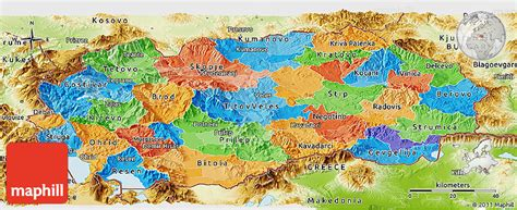 physical map of macedonia political panoramic map of macedonia physical outside