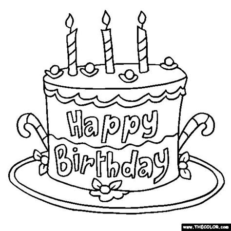 layer cake coloring pages pictures of birthday cakes to color a birthday cake