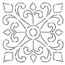 printinglarge drawing tiles spanish tile stencils google search wall stencil for
