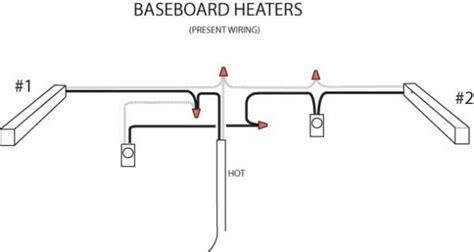 installing two baseboard heaters to one thermostat baseboard heater wiring doityourself community forums