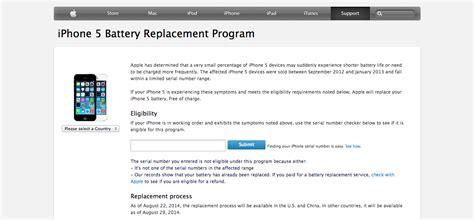 iphone 5 battery replacement program apple gazette