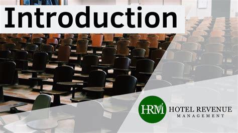 Hotel Revenue Management Introduction Youtube Hotel Revenue Excel Template
