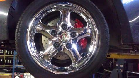 porsche oem wheels 17 quot 4 porsche oem chrome cup ii wheels rims perfect