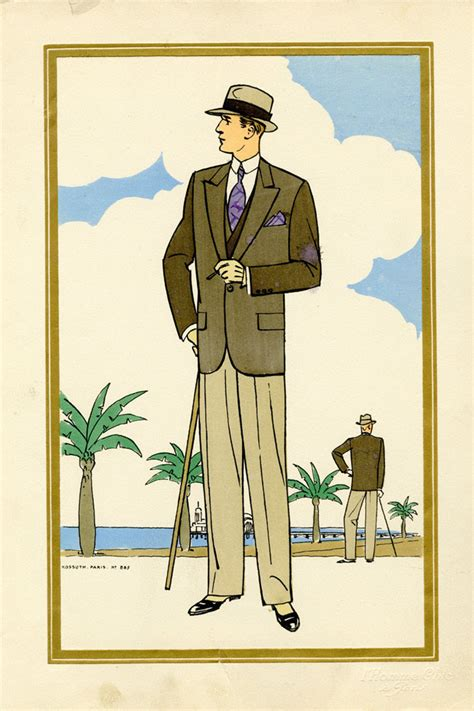 mens fashion 1920s lillustration models picture