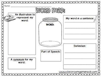 word map template classroom freebies word map vocabulary practice
